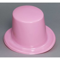 Plastic Top Hat Pink