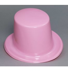 Plastic Top Hat Pink
