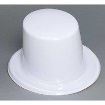 Plastic Top Hat White