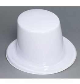 Plastic Top Hat White