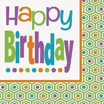 Birthday Dot Luncheon Napkin 16 CT