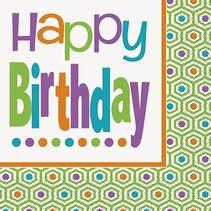 Birthday Dot Luncheon Napkin 16 CT