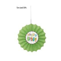 Birthday Dots Tissue Fan