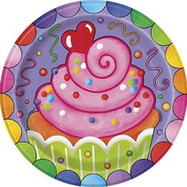 """Candy Party 7"""" Plate 8 CT"""
