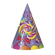 Candy Party Hats 8 CT