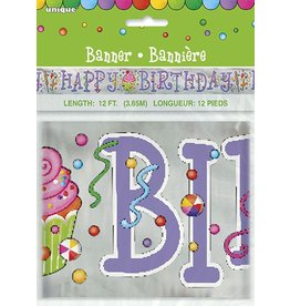 Candy Party Foil Banner