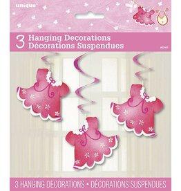 Pink Dress Swirls