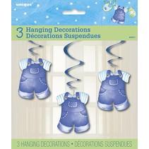 Blue Clothes Line Hanging Decorations