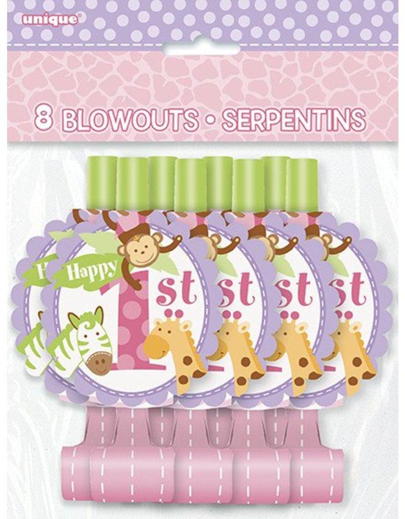 1st Safari Pink Blowouts 8 CT