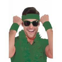 Wristband and Headband Green