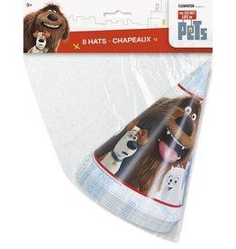 Secret Live of Pets Party Hats 8 CT