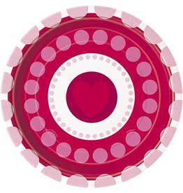 "Radiant Hearts 7"" Plate 8 CT"