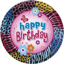 "Wild Birthday 7"" Plate 8 CT"