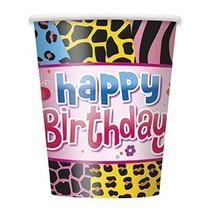 Wild Birthday Cups 8 CT