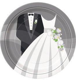 "Silver Wedding 9"" Plate 8 CT"