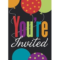 Birthday Cheers Invitations 8 CT
