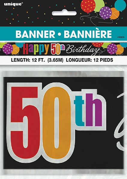 Happy 50th birthday banner tribouts party bingo carnival happy 50th birthday banner publicscrutiny Images
