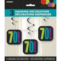 Happy 70th Birthday Hanging Decorations