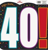 40th Birthday Sign In