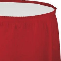 Table Skirt Plastic Classic Red