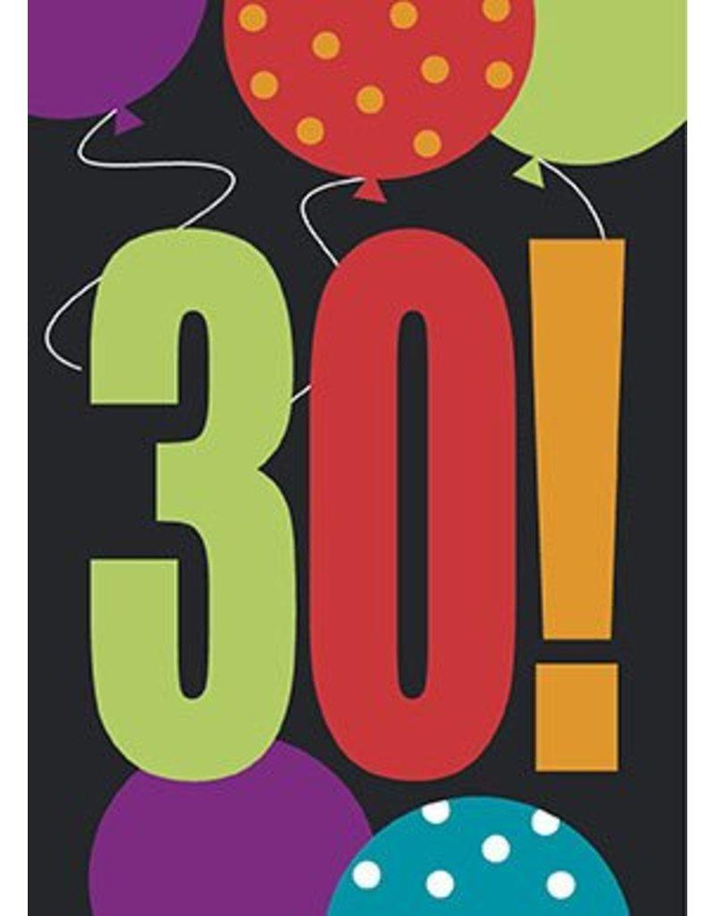 30th Birthday Invitations 8 CT