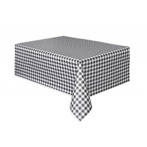 Black Gingham Table Cover