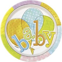 Baby Colors 7' Plates 8 Ct