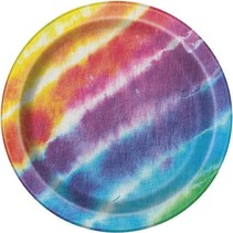 """Tye Dye 7"""" Plates 8 CT"""