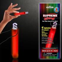 """Glow Stick 4"""" & lanyard Red"""