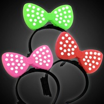 Polka Dot Bow Headband Lite Up