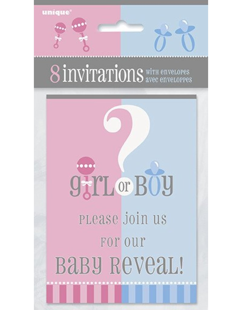 gender reveal invitations 8 ct tribout s party bingo carnival