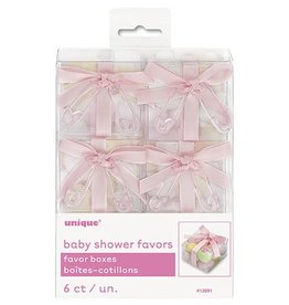 Six Baby Shower Favor Boxes