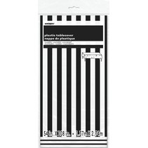 Black Striped Table Cover