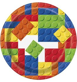 "Building Block 7"" Plate  8CT"
