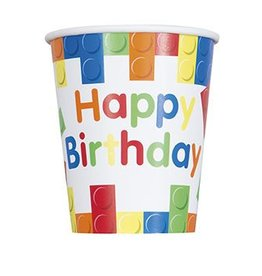 Building Block Party Cups  8CT