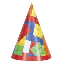 Building Block Party Hats 8 CT