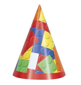Building Block Party Hats 8 CT