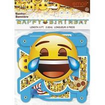 Emoji Happy Birthday Banner