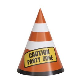Construction Party Hats 8 CT