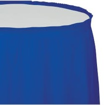 Table Skirt Plastic Cobalt Blue