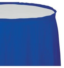 Table Skirt Plastic Cobalt Blue