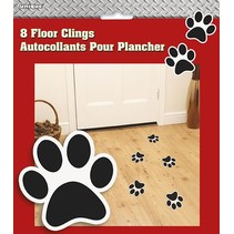 Paw Print Floor Clings