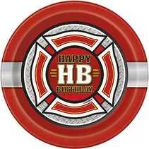 "Fire Truck 7"" Plate 8 CT"