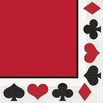Casino Party Luncheon Napkin 16 CT