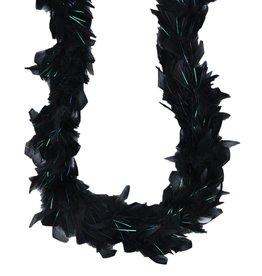 Mini Irridescent Boa Black