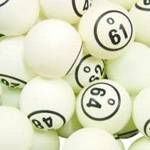 White Single # Bingo Balls
