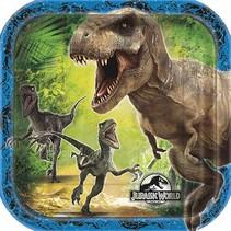 "Jurassic World 7"" Plate 8 Ct"