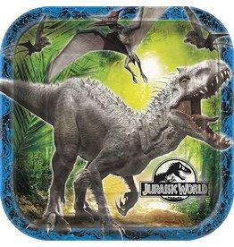 "Jurassic World 9"" Plate 8 Ct"