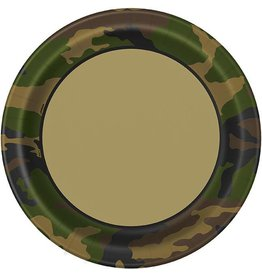"Military Camo 9"" Plate 8 CT"