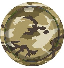 "Military Camo 7"" Plate 8 CT"